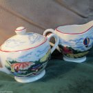 Cream and Sugar Set Ivy Hill Collection Welcome Home by Indigo Gate 1995
