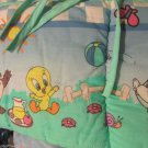 Looney Toon Lovables Picnic With Taz Bugs Tweety Standard Crib Bumper