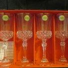Vintage Capri Valencay Gold Rim Claret Wine Glasses Crystal d'arques France NIP