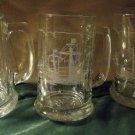 Columbus Voyage 500th Anniversary Glass Beer Mug Stein Santa Maria Nina Pinta