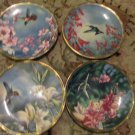 Set of Four Hummingbird Collectible Plates Pickard USA Gems of Nature C Nelson