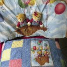 Baby Bumper Set Pad Headboard Skirt Blue Jean Teddy Company By Spring Industries