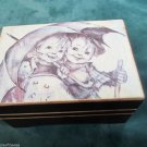 Vintage Sankyo Wooden Music Box Plays Raindrops Keep Falling On My Head Japan