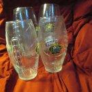Collectible Louisiana State LSU Tigers 16oz.Logo Football Shape  Pint Glasses