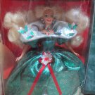 Blonde Happy Holidays Barbie 1995 Special Edition Victorian Emerald Dress NIB