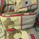 Cute Cocalo Buttons Teddy Bears Monkeys Dog Bumper Diaper Stacker Quilt