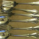 Six Pcs1881 Rogers Arbor Rose True Rose Stainless Oneida Ltd 1970s Spoons Forks