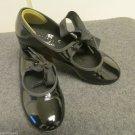 Girls ABT Spotlights Black Patent Tap Dance Shoe Tap Jazz Group Dance Class 12.5