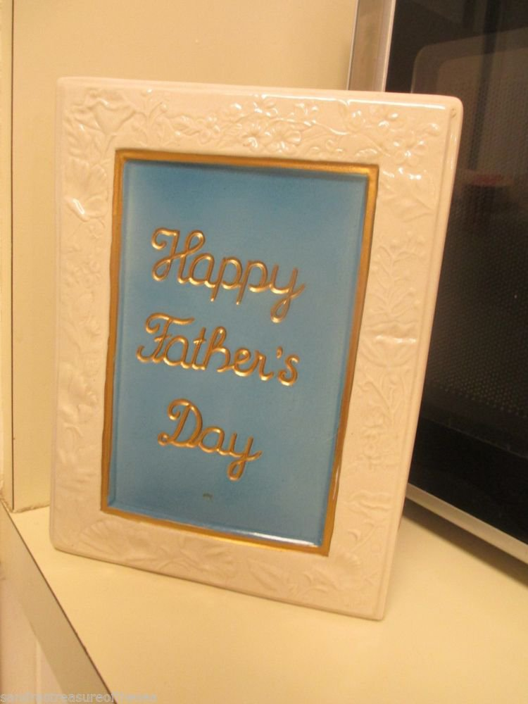 Jim Beam Happy Fathers Day 1988 Decanter Empty Card For Dad and Verse on Back