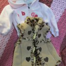 Baby Girl 6 to 12 Faux Fur Lined Vest and Pink Zip Jacket Baby Gap Nannette