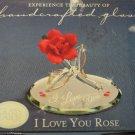 Glass Baron Collection I LoveYou Rose Swarovski Crystal Handcrafted Glass
