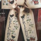 Debbie Mumm Door Bow Welcome Friends Cross Stitch Kit 17 Inch Long by Demensions