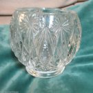 Vintage Crystal Glow Candleholder  Made Exclusively for Avon by Fostoria Glass