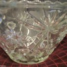 Precut Clear Pattern Crystal by Anchor Hocking 1960 Punch Bowl