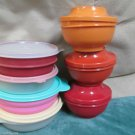 Fourteen Pieces Tupperware  Small Bowls Refrigerator Storage Leftovers