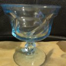 Champagne Tall Sherbet Glass by Fostoria Jamestown Pattern Blue Swirl 2719