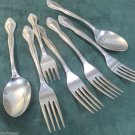 Seven Pieces Supreme Stainless by Towle Dynasty Pattern Japan 1982 to 1983