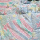Versatile Kids Line Crib Bumper Stars Rainbows Abstract in Pale Pastels W Sheet