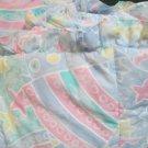 Versatile Kids Line Crib Bumper Stars Rainbows Abstract in Pale Pastels W Sheet