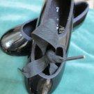 Girls ABT Spotlights Black Patent Tap Dance Shoes Tap Jazz Group Dance Class 7