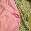 Two Girls Swaddle Me Baby Swaddling Blankets Wraps Pink and Leopard Sm to Med