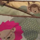 Child Of Mine Crib BumperW Sheet Jungle Animals Standard Crib Light Colors Sweet