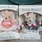 Two Special Collector Edition Antique Heritage Teddy Bears 1991 NIB So Cute