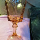 Vintage Pink Fostoria Water Goblet Virginia Pattern 2977 Heavy Pressed 1983-86