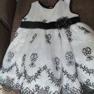 Girls12 mo LA Princess Embellished Fancy Wedding Party Dress White Black Design