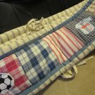 Kids Line Portable Crib Bumper Pad All Stars Sports Soccer Bike Stripe Backround