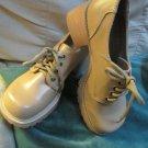 Jolie Victoria Chunky Nude Tan Shoes Women's Shoes Sz 7 1/2 Tie Sturdy Shoe