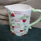 Vintage New Trends Strawberry Patch Collection 1985 Measuring Cup