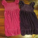 Two Girls Dresses Sz 4T Hart Street Pretty Crown Jewel Purple and Pink Velour