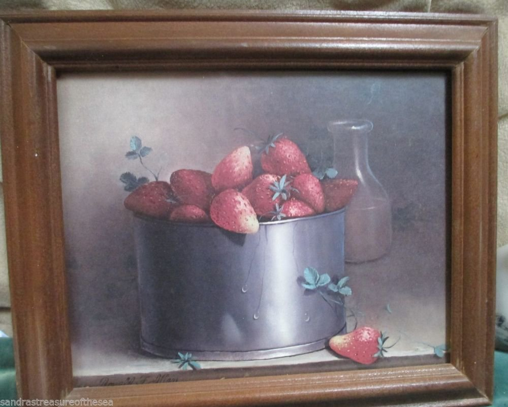 If You Love Strawberries Here Is A Great Framed Strawberry Print For Your Decor