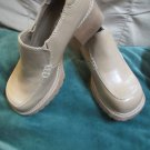 Jolie Victoria Chunky Nude Tan Shoes Women's Shoes Sz 7 1/2 Slip On Sturdy Shoe