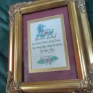 Beautifully Framed Calligraphy Bible Verse I Corinthians 13 Love Is With Flowers