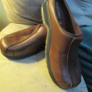 Womens Predictions Deep Tan Leather Collections Shoe Thick Sole Double Stitch