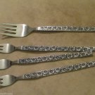 Riviera Stainless Moana Pattern Three Cocktail Forks One Salad Fork Japan