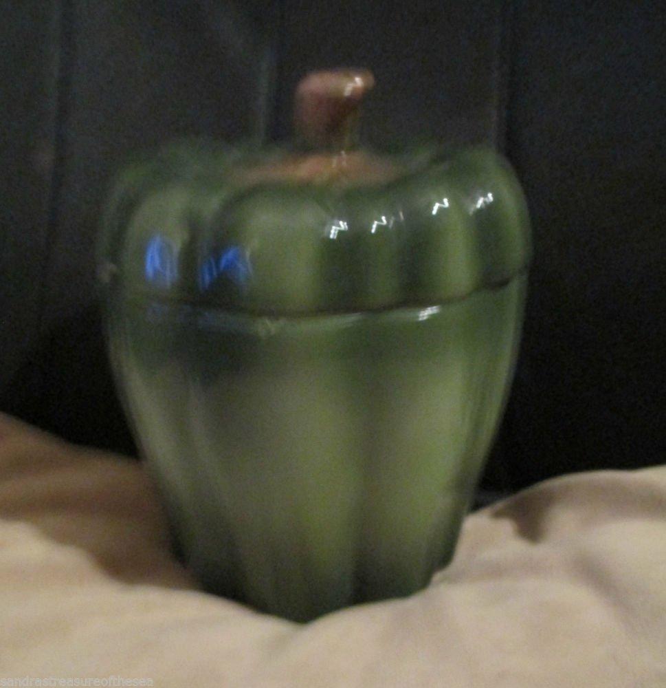 Vintage Decorative Monte Verde Bell Pepper Mann Kitchen Canister Biscuit Jar