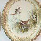 Vintage Margie Morrow Building the Nest Framed Signed Embellished Print 1982