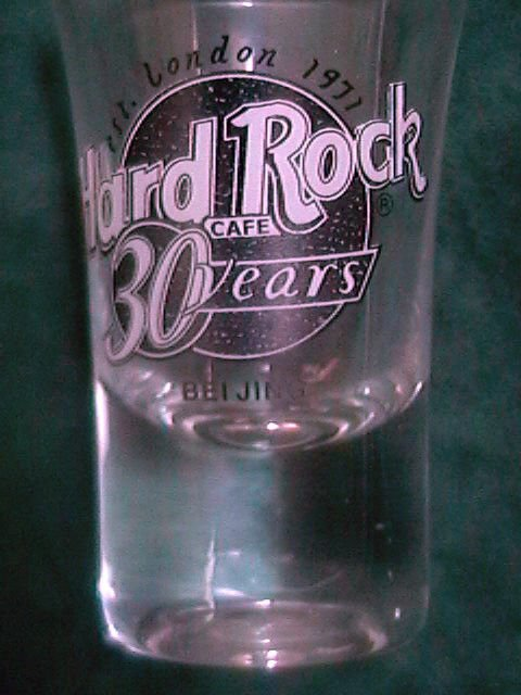 Hard Rock Cafe Beijing 2001 30th Anniversary Logo EST London 1971 Shot Glass NIB
