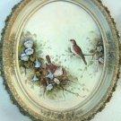 Vintage Margie Morrow Waiting To Hatch Framed Signed Embellished Print 1982