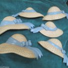 Vintage 1987 Burwood Products Homeco Straw Hat Bonnet Resin Wall Hanging Plaque