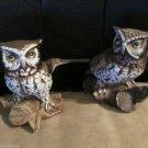 Homco Home Interiors Vintage Decorative Ceramic Owl Collectibles