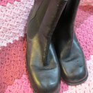 Classic Gianni Bini Black Soft Leather 2.5 Heel Selby  Ankle Boot Shoes 7 1/2 M