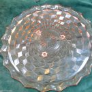 Vintage Pink Jeanette Glass American Cube Tri-footed Cake Serving Plate 12 Inch