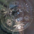 Prescut Clear Pattern Crystal Glass by Anchor Hocking 1960 Three Toe BonBon