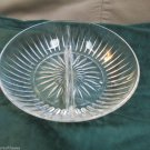 Princess House Highlights Pattern Heavy Crystal Round Divided Bowl