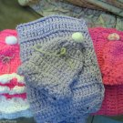 New Handmade New Born Hat and Car Seat Blanket Pink Lavender or Hot Pink W White