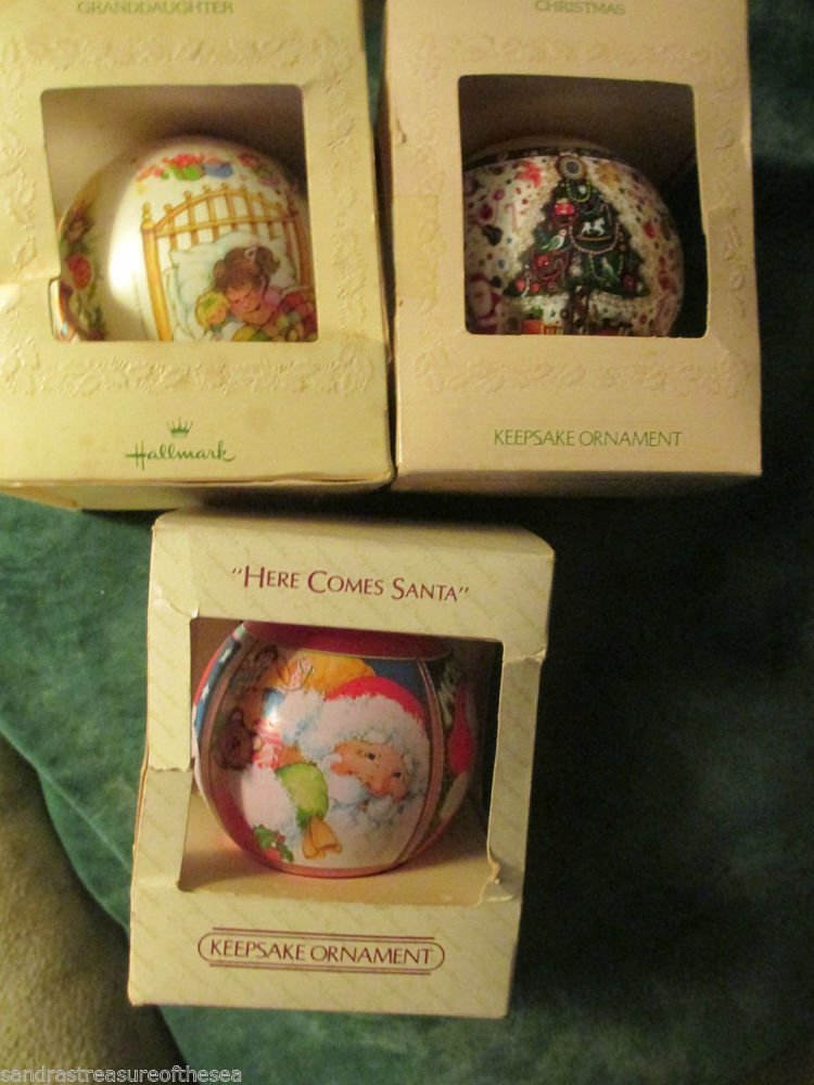 Hallmark Keepsake Ornaments 1980 to 83 Here Comes Santa Christmas Granddaughter